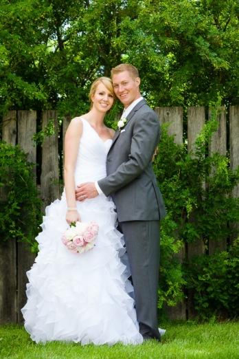 bride groom fence